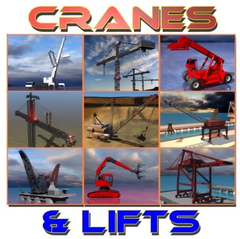 3d cranes equipment model