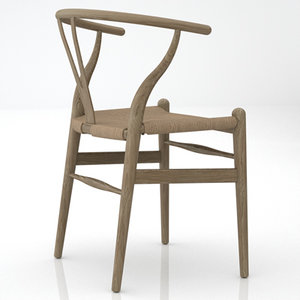 hans j ch24 wishbone chair 3d model