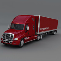 truck cascadia trailer freightliner 3ds
