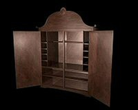 cherry wood closet 3d model