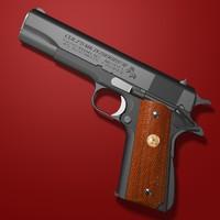 3d model automatic pistol colt 1911