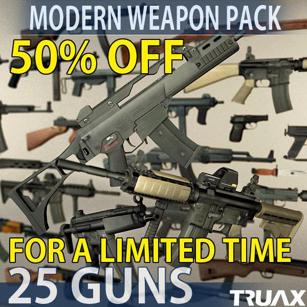 3d modern weapons