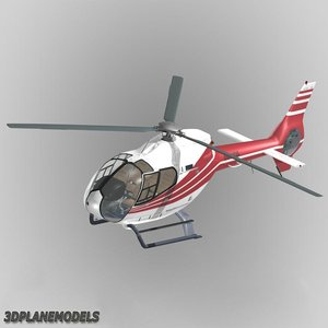 eurocopter ec-120b private livery 3d model