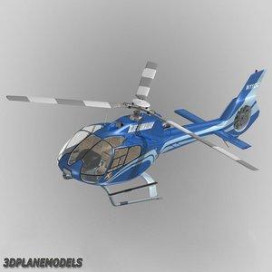 eurocopter ec-130 blue hawaiian 3d model