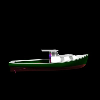 3ds max lobster boat