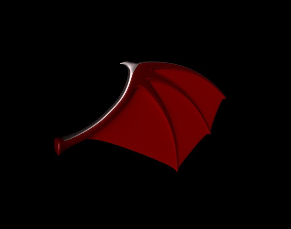3d model demon wing