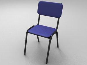 maya student school chair polys
