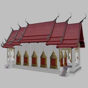 thai temple obj