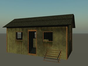3d hen house model