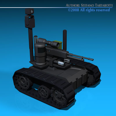 3ds max army robot