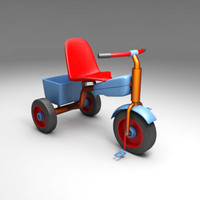 3d children child tricycle model