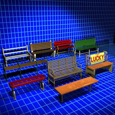 bench 01 3d max