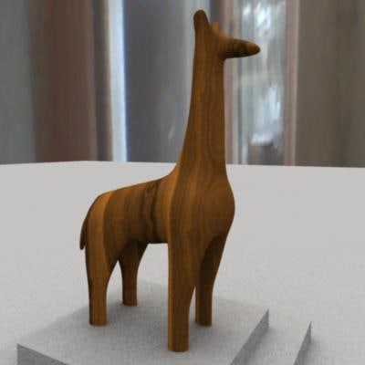 giraffe sculpture primitive 3d ma