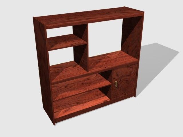 3d model bookshelf book