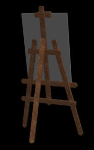 easel painting pintura 3d model
