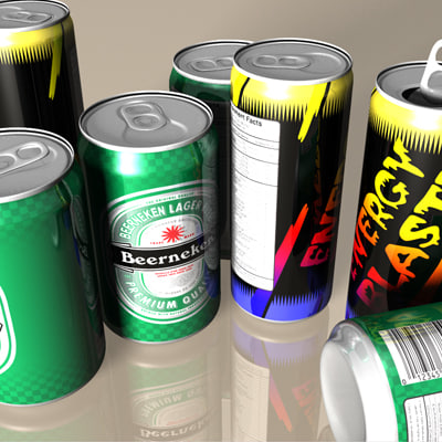 3d model aluminum beverage energy