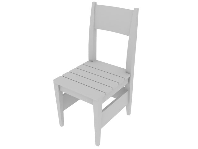 3d chair dining model