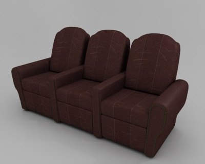 theater chair 3d model