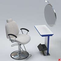 Chair barber002.ZIP