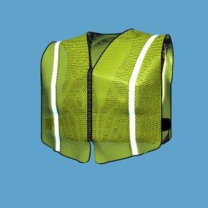 safety vests reflective 3d model