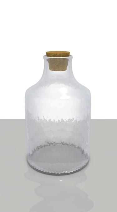 blender glass bottle cork