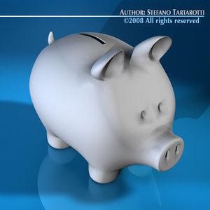 3d coin pig