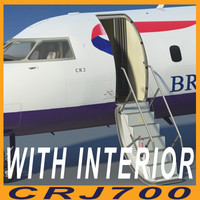 3d model crj700 british airways interior