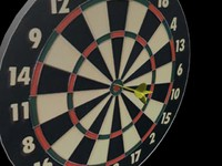 Dartboard with dart