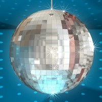 disco ball sparkles light 3d max