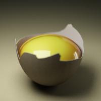 3d cracked egg
