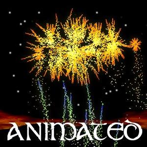 3dsmax firework animation