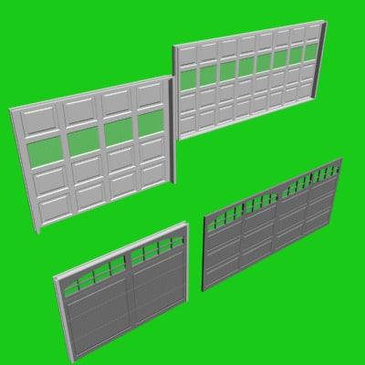 3d animatable doors garages