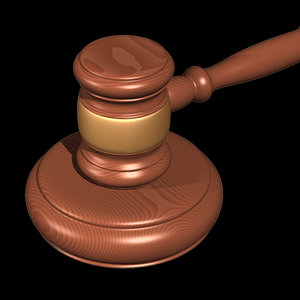 3d model gavel judges