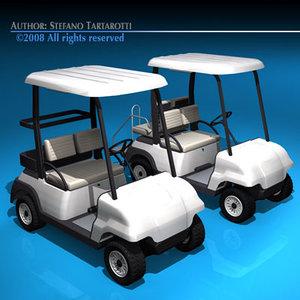 golf cart c4d