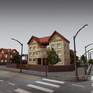 3d definition city block buildings model