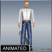 male human animation max