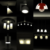 ceiling lamps 3d 3ds