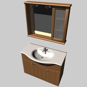 3d bath sink