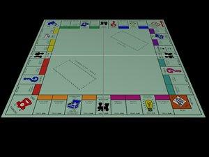 3d monopoly board money model