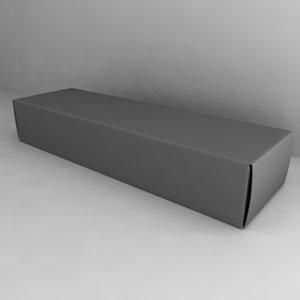 3d model paper box