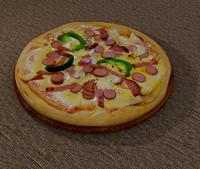 realistic pizza 3d max