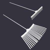3d model lawn rakes