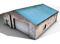 3d model old shed