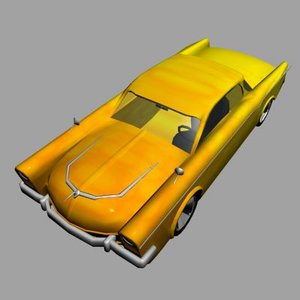 3dsmax hot-rod low-poly