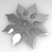 shuriken asian weapon 3d lwo