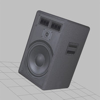 big speaker low poly