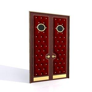 tufted double door 3d max