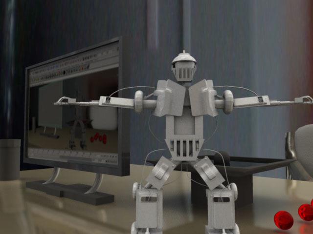 cg robot 3d ma