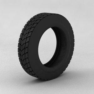 3d model truck tyre