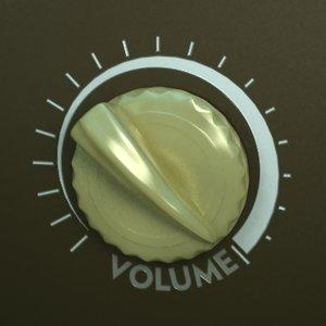 volume knob 3d max